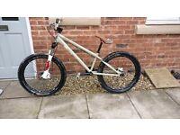 jump bike mountain bike hard tail bicycle dmr not Kona specialized Norco orange charge giant fox