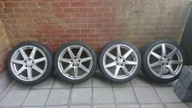 """Mercedes AMG alloys 18"""" 5x112 with hankook tyres"""
