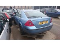2004 FORD MONDEO, 2LT DIESEL, BREAKING FOR PARTS ONLY, POSTAGE AVAILABLE NATIONWIDE