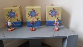 Roald Dahl figures from Charlie and the chocolate factory