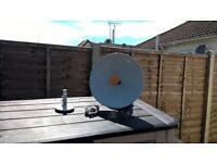 Multimo satellite dish with extras plus 12 volt tv