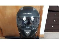 G-MAC PILOT FULL FACE MOTORCYCLE HELMET-SATIN BLACK XXL