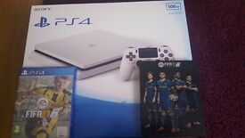 Brand new PS4 slimline white with FIFA 17