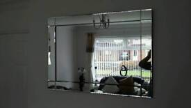 Large frame less mirror like new.
