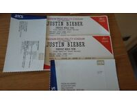 2 x Justin Bieber tickets for Cardiff 30th June 2017 - seated.