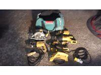 Used Kit of Dewalt Tools
