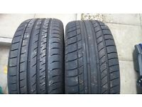 Assorted part worn tyres
