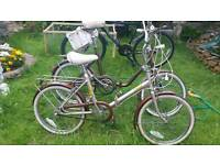 Two X three speed fold ups bikes for sale.