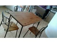 Beautiful dinning table 4 chairs free delivery