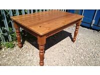 LARGE CHUNKIE PINE DINING TABLE