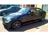 Black BMW E90 320d M Sport 2007 Manual Diesel 163bhp Saloon Leather Full Service History