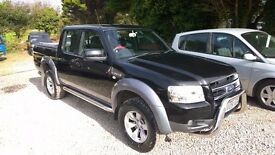 Ford Ranger Crewcab xlt Pick-up 4x4 2.5lt turbo diesel, 2009-09-reg, 139,000 miles