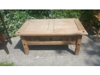 Coffee table - with drawer - solid Mexican pine