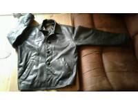 Black Large Leather Jackets