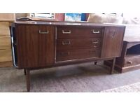 Gplan egomme sideboard with 3 drawers