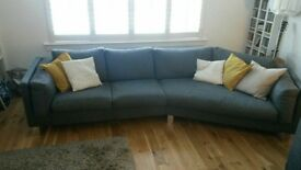 Slate Grey 4 seater Italian sofa