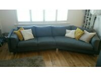 Slate Grey 4 seater Italian sofa