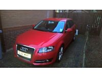 Audi A3 red 2 litre TDI great condition