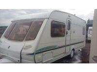 Touring caravan abbey aventura 318 2004 fixed bed 4 berth