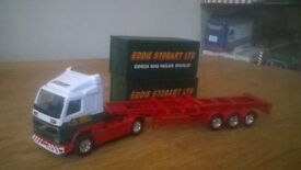 eddie stobart volvo skeletal trailer with 2 containers