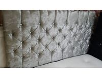 CRUSHED VELVET DIVAN SPECIAL OFFER ALL SIZES, 3 COLOURS & OPTION OF DRAWERS/OTTOMAN