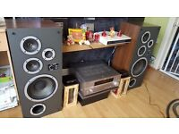 VINTAGE WHARFEDALE LARGE SPEAKERS- perfect sound
