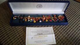 disney 37 piece charm bracelet 22carot gold plated