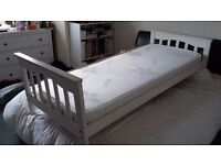 Mothercare small single bed to fit mattress 190x70cm