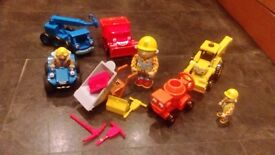 Bob the builder vehicles and figure set