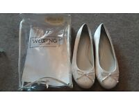 ivory memory fiam bridesmaid shoes size 5