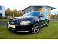 2009 AUDI A3 VERY LOW MILES, 12 MONTHS MOT, FINISHED IN GLEAMING BLACK