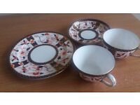 Crown Derby cup and saucer with plate