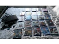 SONY PLAYSTATION 2 CONSOLE WITH CONTROLLERS, MEMORY CARD & MASSIVE BUNDLE OF GAMES (24) VGC