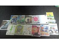 nintendo wii with 14 games