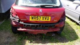 Peugeot 207 2008 tailgate only