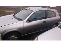 2003 NISSAN ALMERA, 1.5 PETROL, BREAKING FOR PARTS ONLY, POSTAGE AVAILABLE NATIONWIDE