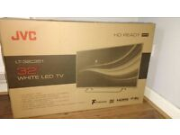 "JVC 32"" HD ready LED white TV NEW"