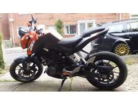 KTM Duke 125cc p/x for a small car