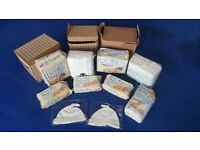 Huggies Baby Nappies Lot: Wipes, Cotton pads, Hats
