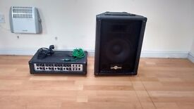 pa amplifier and speaker,
