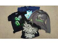 Minecraft T shirts x3 for age 10