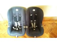 Two Britax eclipse car seats 9 months-4years.
