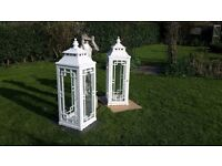 """For Sale Two Old Wooden Lanterns 52"""" by 16"""" Square"""