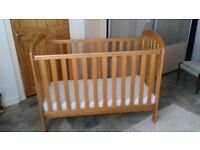 Cot with brand new matress good condition