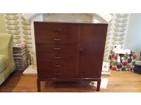 Vintage Retro 6 Drawer Chest Dresser Sideboard Cupboard Storage