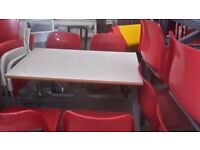 Job lot of modular cafe table and chairs