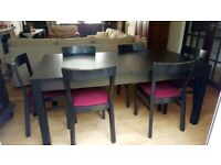 extendable Dining Table and 6 chairs IKEA