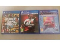 PS4 Games, singstar Celebration (new), Grand Theft Auto and Gran Turismo
