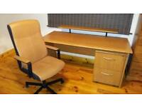Large Desk with Office Chair