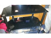 Black glass tv stand PA3 1LS